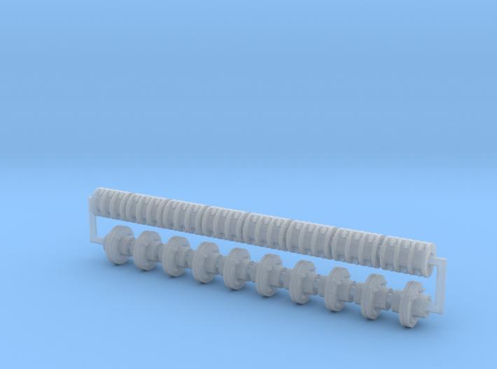 Pulley Shaft Coupler Set 3d printed