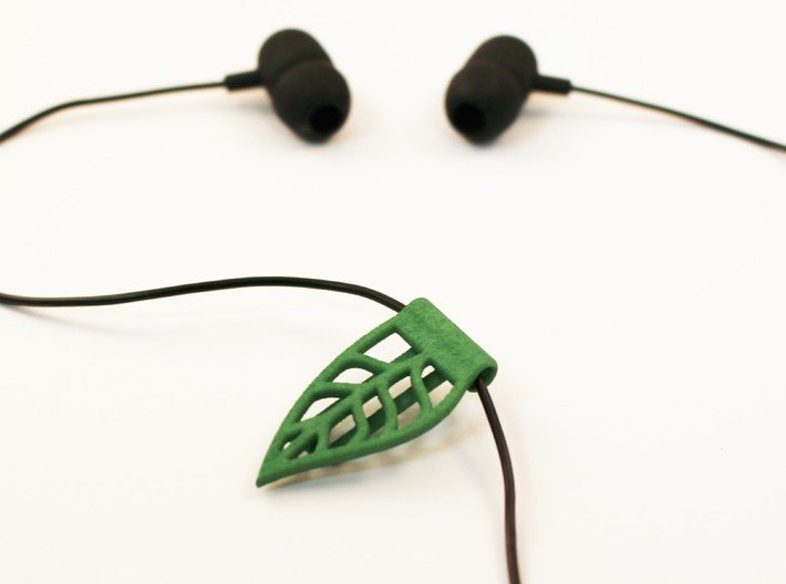 Leaf cable clip for headphones 3d printed headphone clip for running and workout