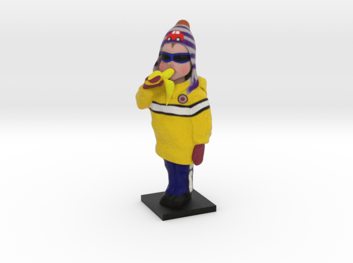 Carter the Banana Boy 3d printed