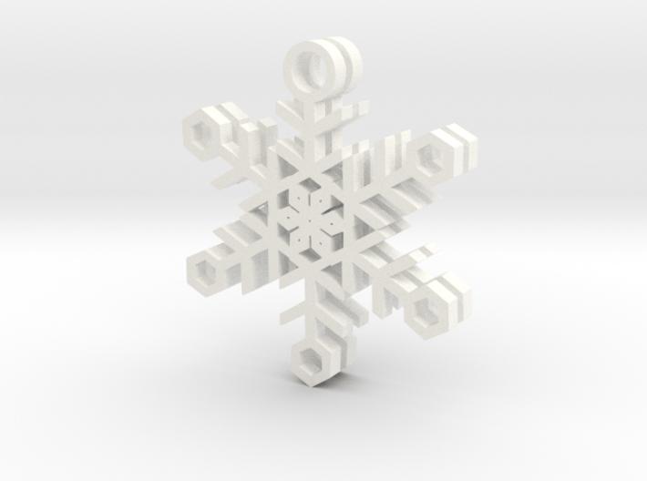Ice Snowflake Earrings 3d printed