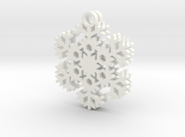 Blizzard Snowflake Earrings 3d printed