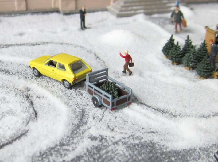 SET Shopping for a christmas tree (N 1:160) 3d printed