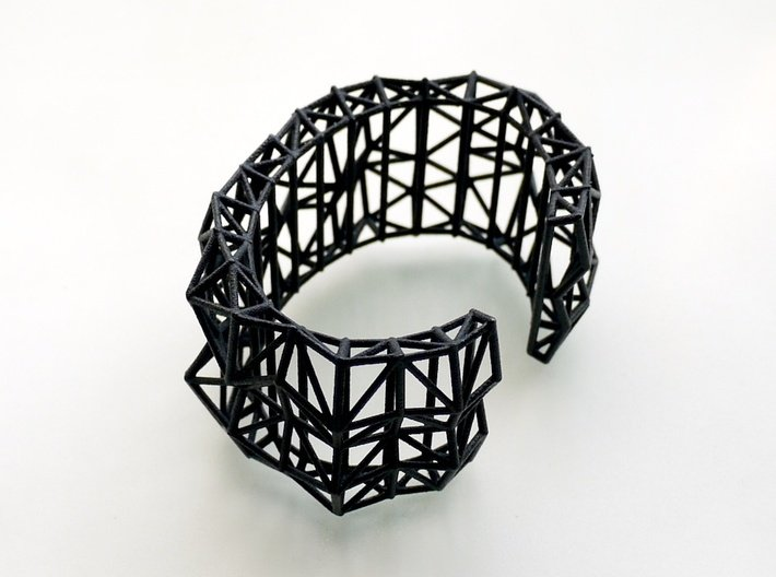 Faceted Cuff     3d printed