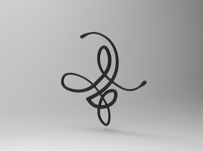 Flow Pendant 3d printed