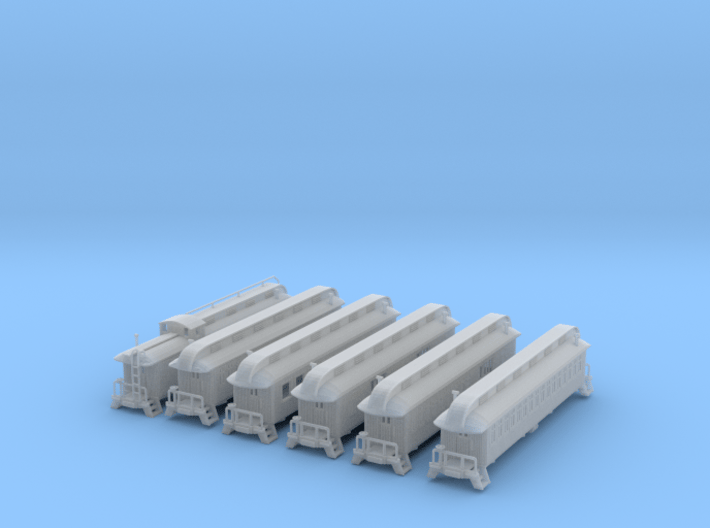 Old Style Passenger Set 6 Cars 3d printed