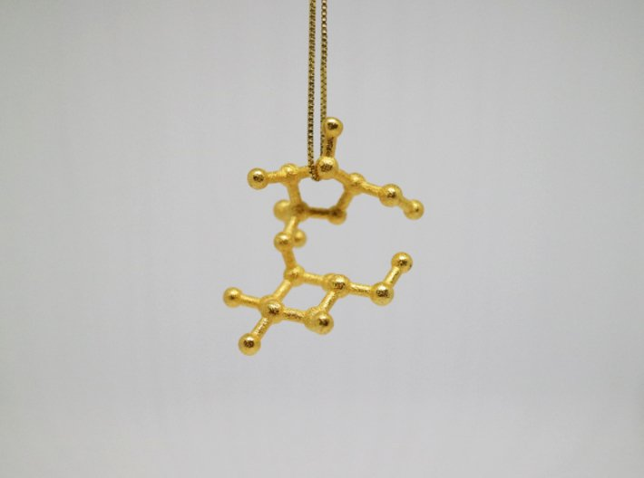 Sucrose (Sugar) Molecule Keychain 3d printed Sucrose (Sugar) Molecule Necklace Pendant.