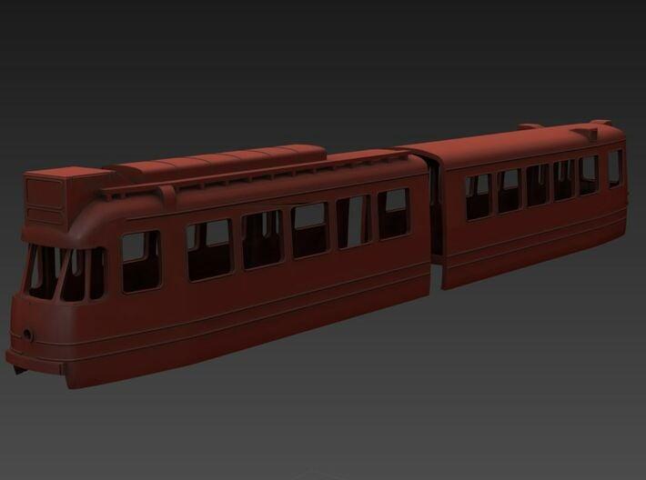 Amsterdamse gelede tram 1G (H0 & N) 3d printed