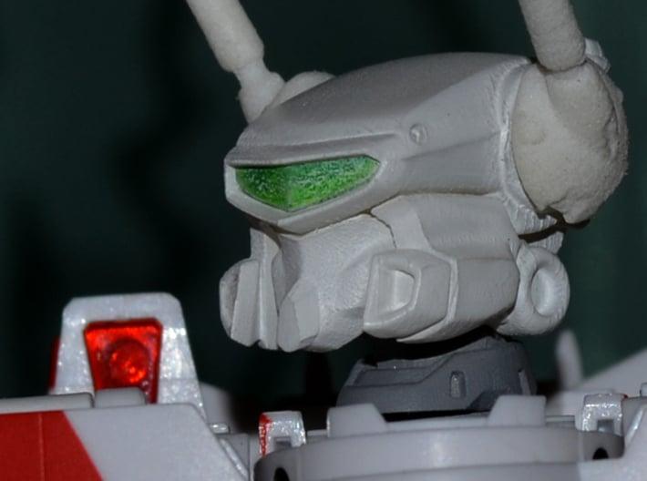 VF-1J/K Custom Head Unit 3d printed Quick white undercoat, no sanding. FUD head/WSF antenna