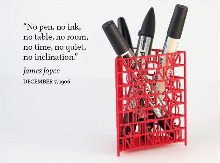 James Joyce Quote Desk Tidy 3d printed