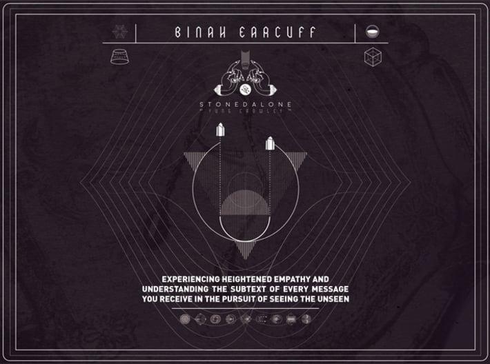 BINAH EARCUFF 3d printed