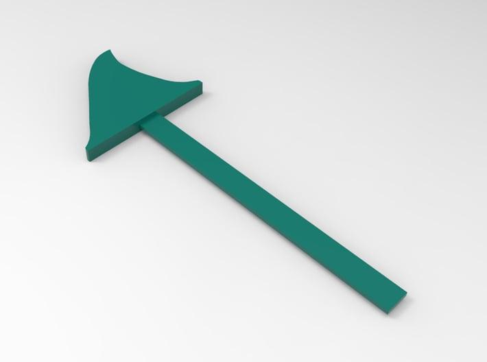 Shark Fin Bookmark 3d printed