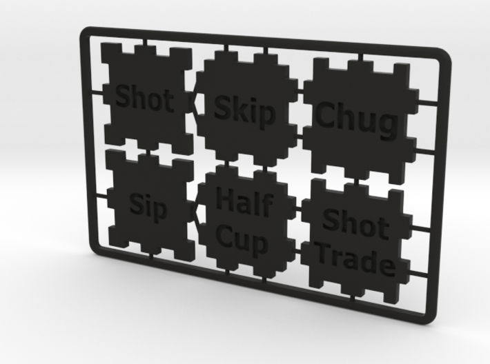 Creditcard Drinking-Game 3d printed