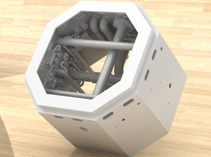 DeAgo Falcon Main Hold Floor Pit 1 cut it to hight 3d printed