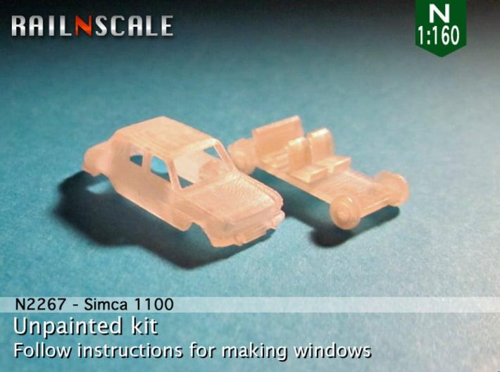 Simca 1100 (N 1:160) 3d printed