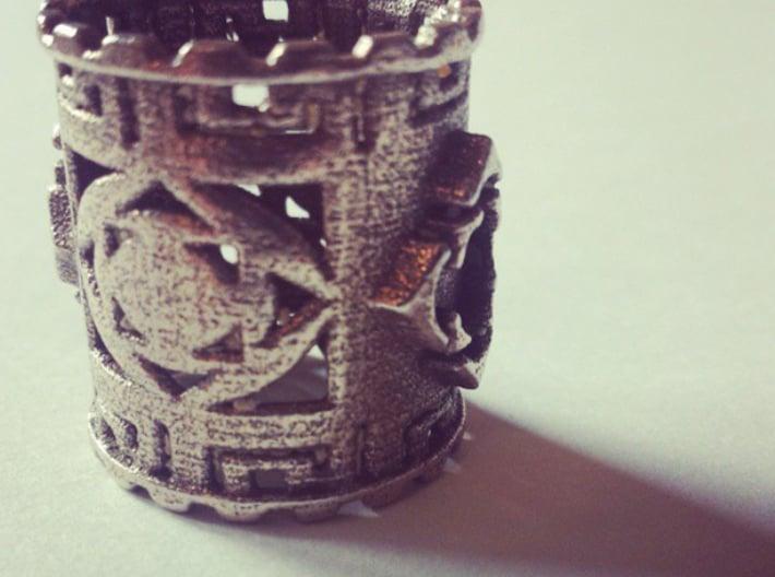 Jewelry 3d printed Mayan Ring