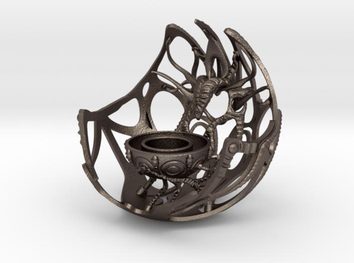 Future Artefact 004 3d printed Future Artefact 004- 3D printed candle holder- steel- Render- Kai Braacher