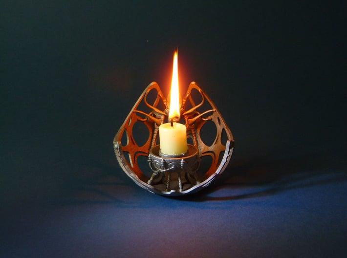 Future Artefact 004 3d printed Future Artefact 004- 3D printed candle holder- steel- Kai Braacher