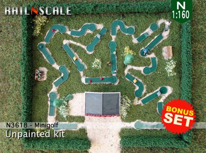 BONUS SET Minigolf (N 1:160) 3d printed