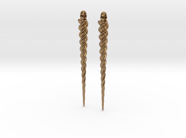 Unicorn Horn Earrings 3d printed