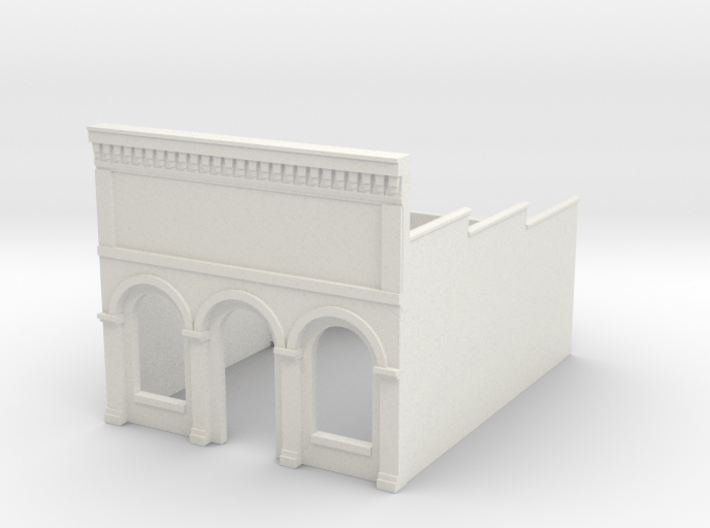Z-Scale Millie's Cafe Basic Structure 3d printed Lowest price, rough stucco appearance