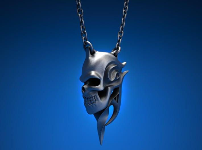 Swirl Skull 3d printed