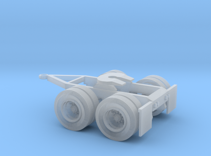 N-scale Tandem-Axle Trailer Dolly 3d printed
