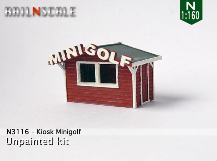 Kiosk Minigolf (N 1:160) 3d printed