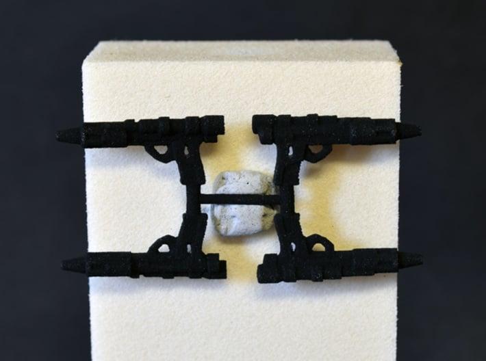 "PRHI Kenner Bespin Blaster 3 3/4"" Sprue of 4x 3d printed"