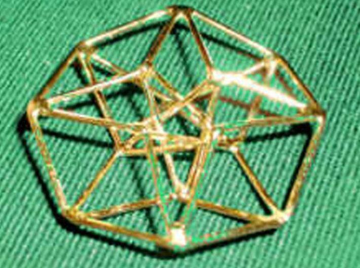 Toroidal Hypercube 35mm 1.5mm Time Traveller 3d printed Handmade Gold Plated Siver version (not Shapeways)