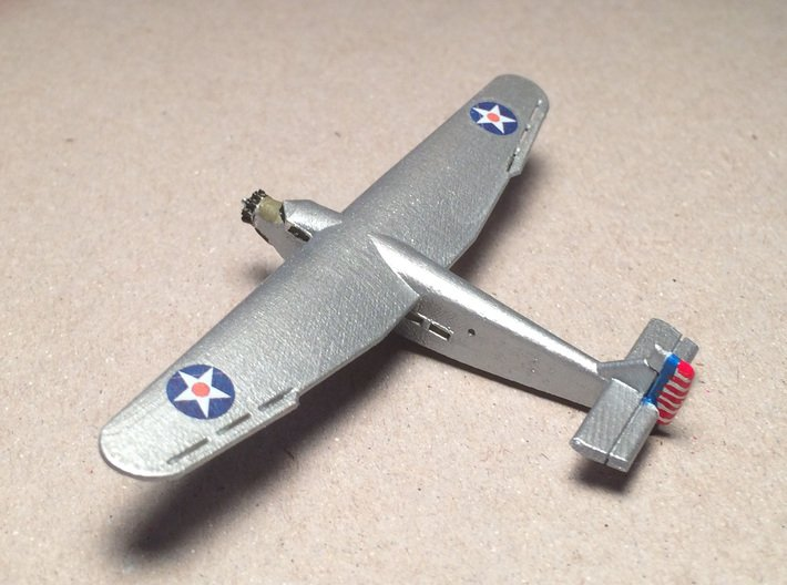 Ford 5-A-TC Trimotor 1/285 Scale 3d printed Fred Oliver's Ford Trimotor, top 3/4 view