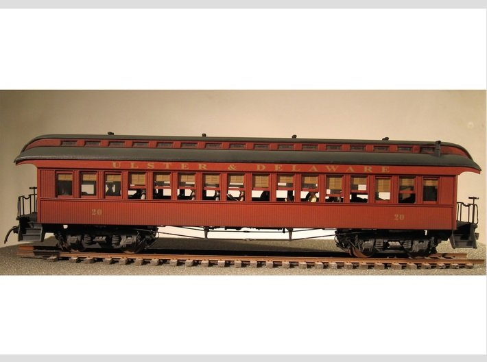 Wood Passenger Car 1885 S Scale 1/64 3d printed