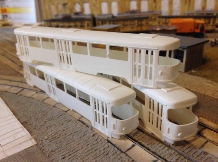 Tatra B4 TT [body] 3d printed Tatra T4 + B4 (on top) (by exiswelt)