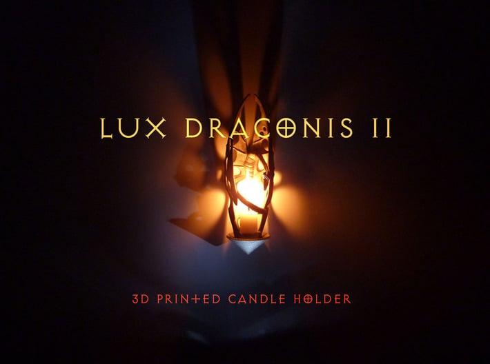 LUX DRACONIS 002 3d printed candleholder LUX DRACONIS 002 - 3D printed in steel