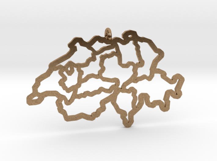 Swiss Pendant 3d printed