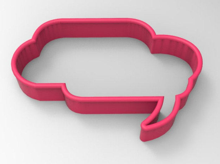 Speech Bubble Cookie Cutter3 3d printed