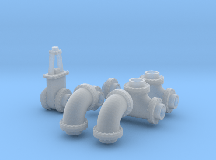 1:87 24 inch Pipe collection 3d printed