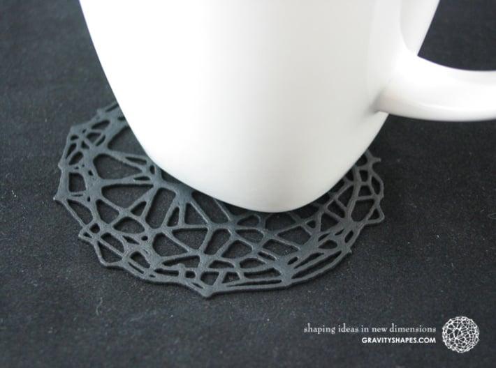 4er Drink Coaster Set - Voronoi #9 (Color-Version) 3d printed Drink Coaster - Voronoi #9 (black)