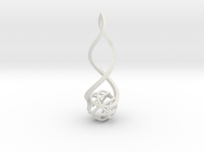 Twirl Pendant 3d printed