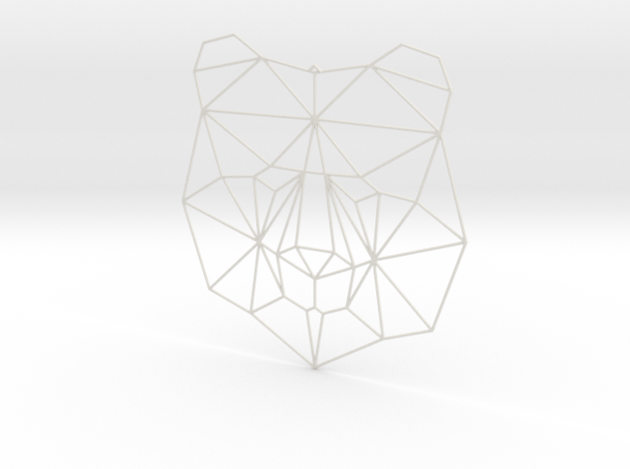 Bear Faceted Polygon Trophy Head 3d printed