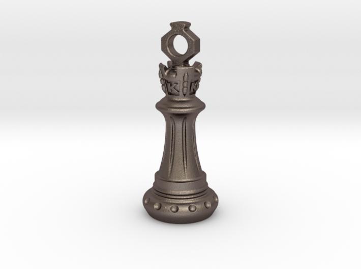 Chess King Pendant 3d printed