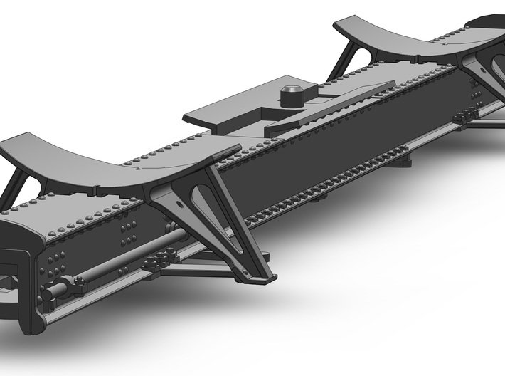 MDC 26 Ft Tank Car Frame (1:87) 3d printed Now featuring bottom support plate