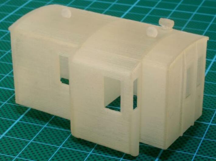 Stalen Dg Dakdetails 3d printed Printed model in Transparent Detail