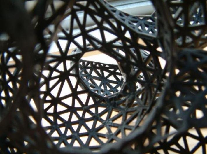 bubbles twist frame 3d printed view through a number of compartments