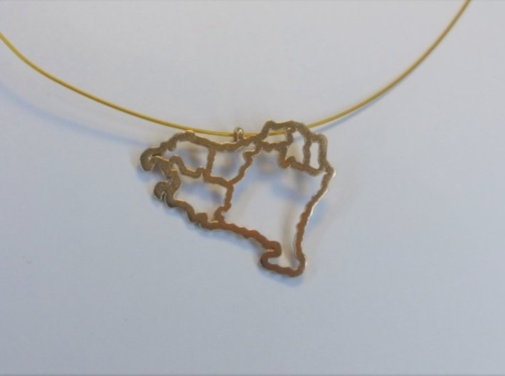 Basque Country Pendant (Gold,Silver,Brass) 3d printed