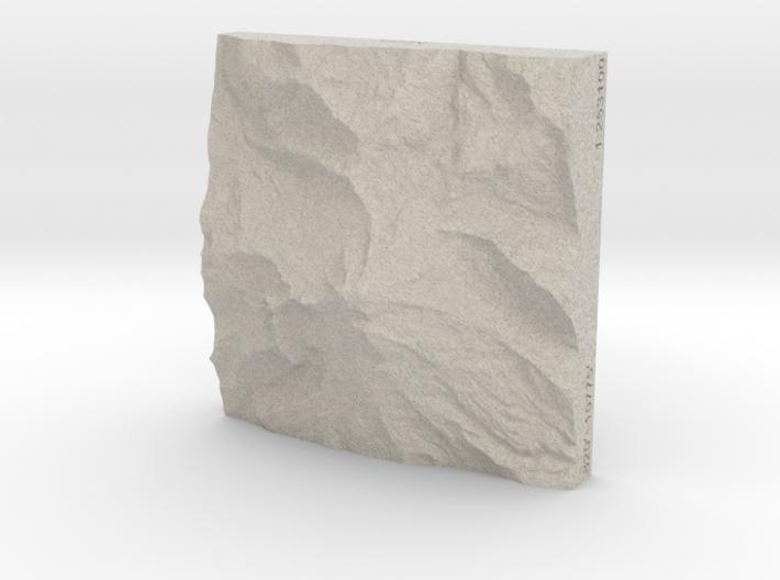3'' Mt. Baker, Washington, USA, Sandstone 3d printed
