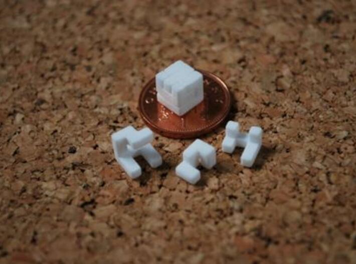 World's smallest cube 3d printed Description