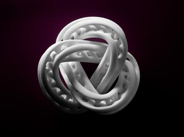 Trefoil Knot Double Moebius0,035.-8cm 3d printed Trefoil Knot Double Moebius