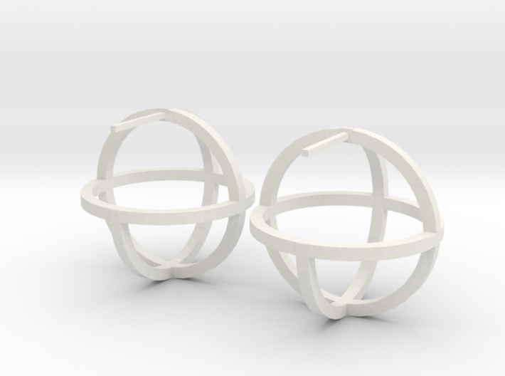 Circles Earring 3d printed