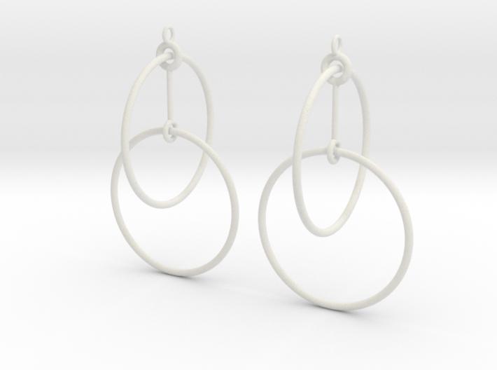 Circles Earrings 2 3d printed