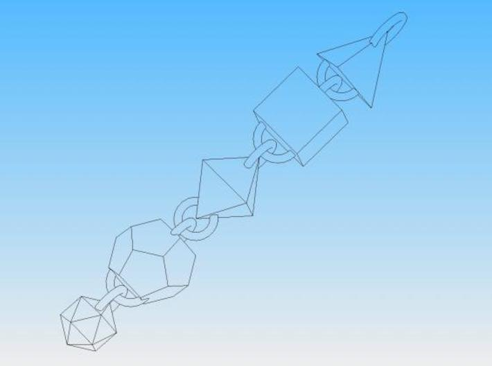 Platonic Solids Dangly Thing 3d printed Solid Edge render